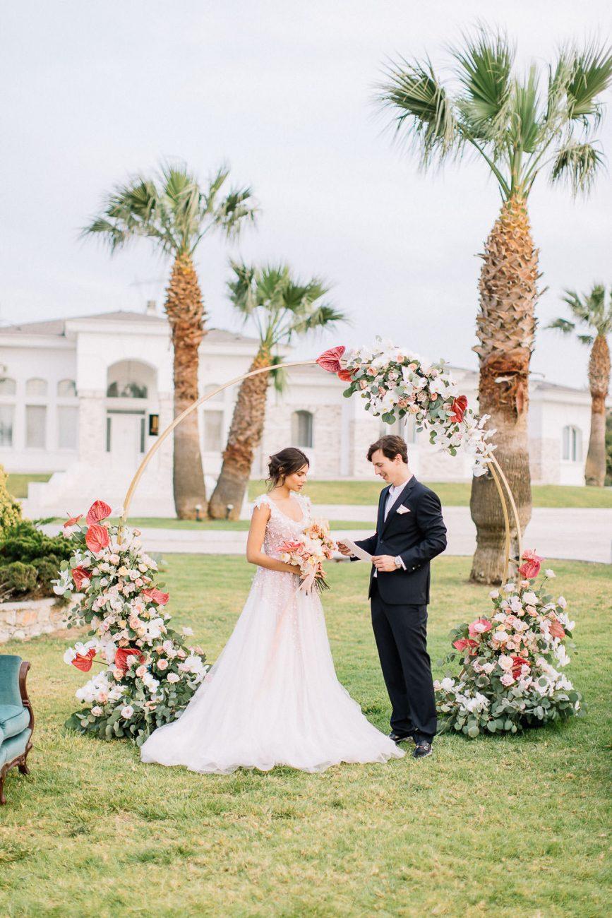 Hochzeitsfotos mit Brautpaar in Rhodos Griechenland